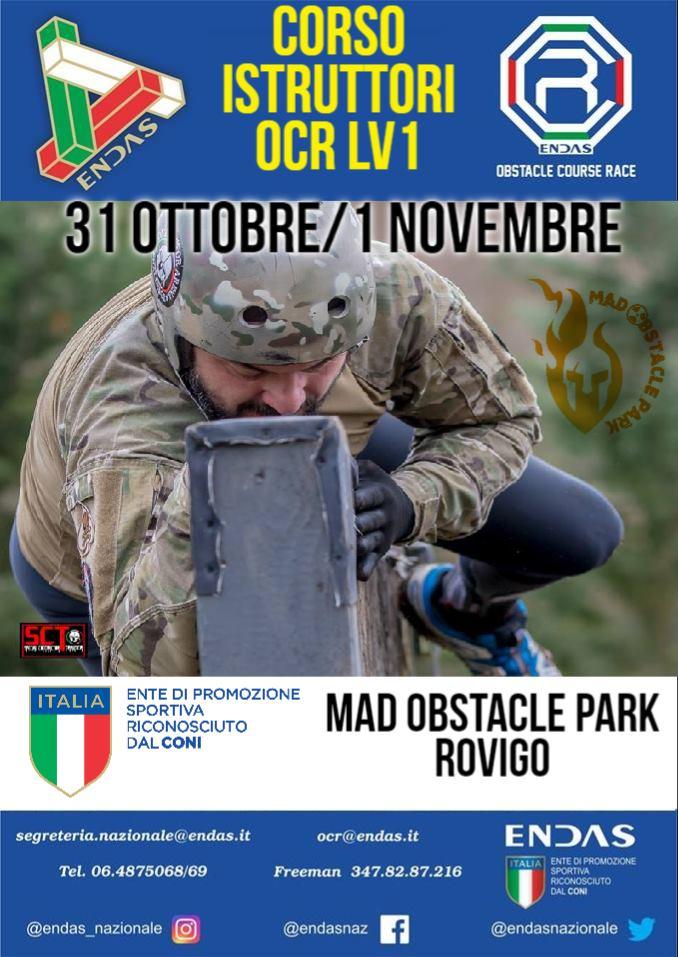 Corso Istruttori 1° Livello OCR 31 Ottobre 1 Novembre