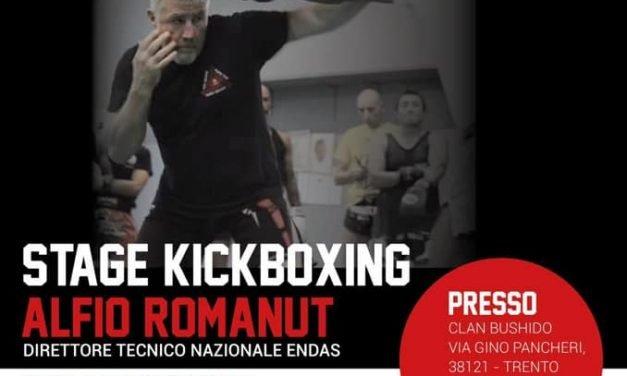 Stage Kick Boxing con Alfio Romanut domenica 11 Ottobre