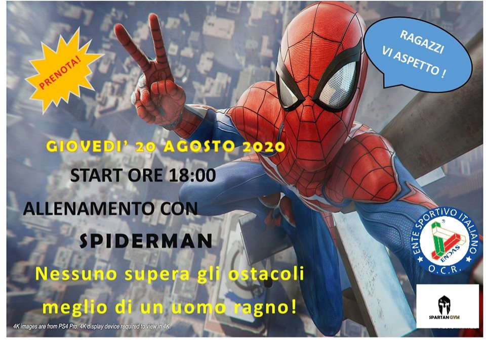 OCR: allenamento kids con Spider-Man 20 Agosto