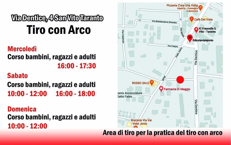 Corsi Tiro con Arco nella provincia di Taranto
