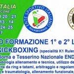 Corsi di formazione 2021 Kick Boxing 2021: scopri le date