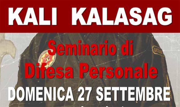 Seminario Kali Kalasag roma 27 settembre