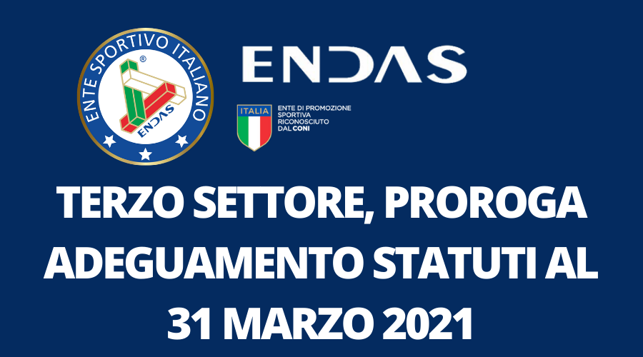 Terzo Settore, proroga adeguamento statuti al 31 Marzo 2021