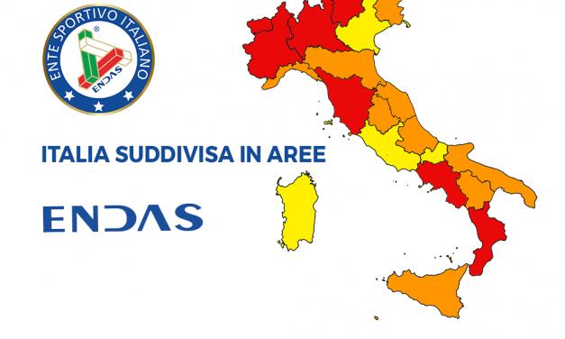 Italia divisa in aree: cosa si può fare e cosa no