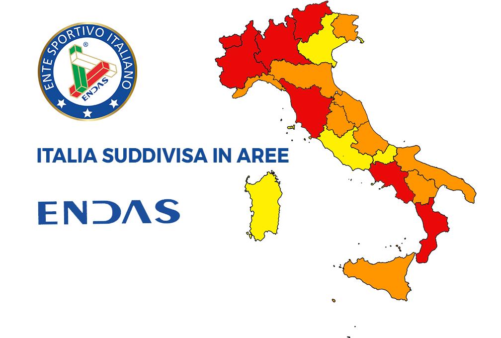 Italia divisa in aree