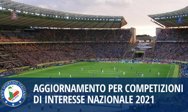 Aggiornamento per Competizioni di interesse Nazionale 2021