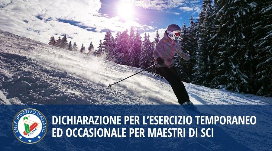 Dichiarazione per l'esercizio temporaneo ed occasionale per maestri di sci