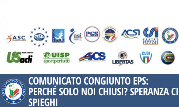 Comunicato congiunto EPS: Perché solo noi chiusi? Speranza ci spieghi