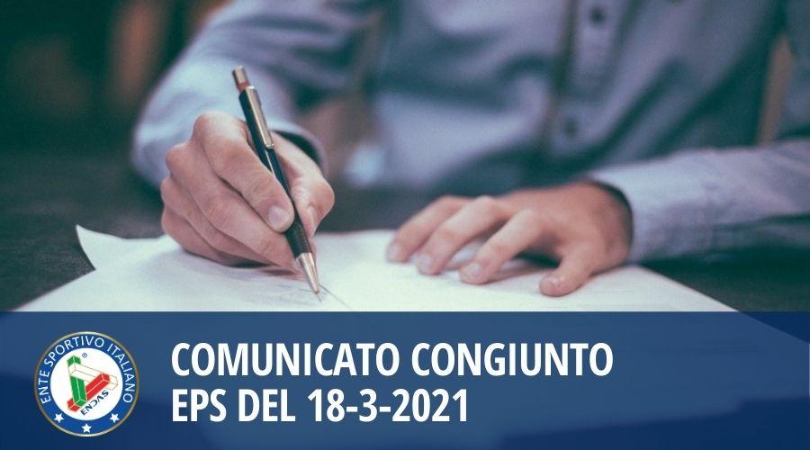 Comunicato congiunto EPS del 18-3-2021
