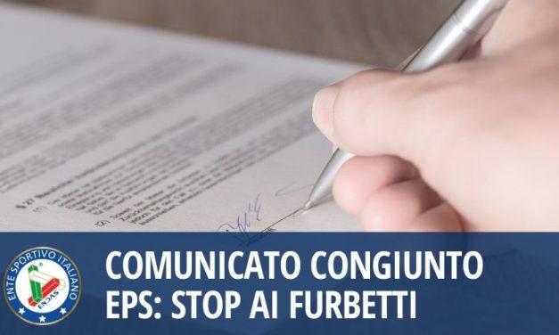 Comunicato congiunto EPS: Stop ai furbetti