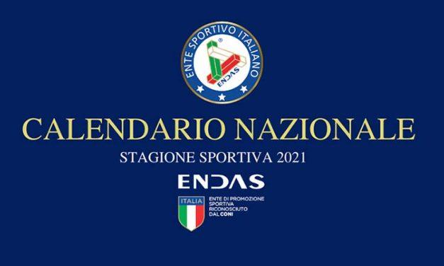 Calendario Competizioni Nazionali ENDAS 2021